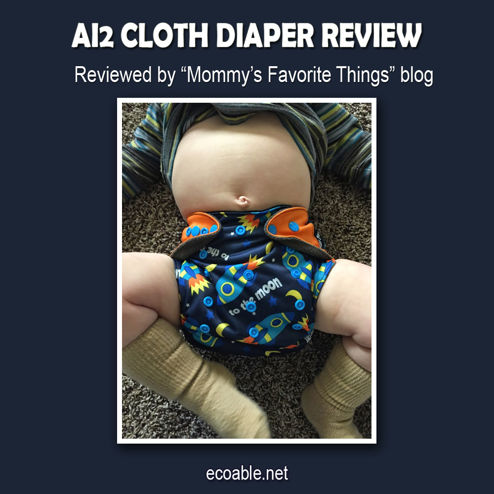 Review: ecoAble Ai2 Cloth Diaper with Insert